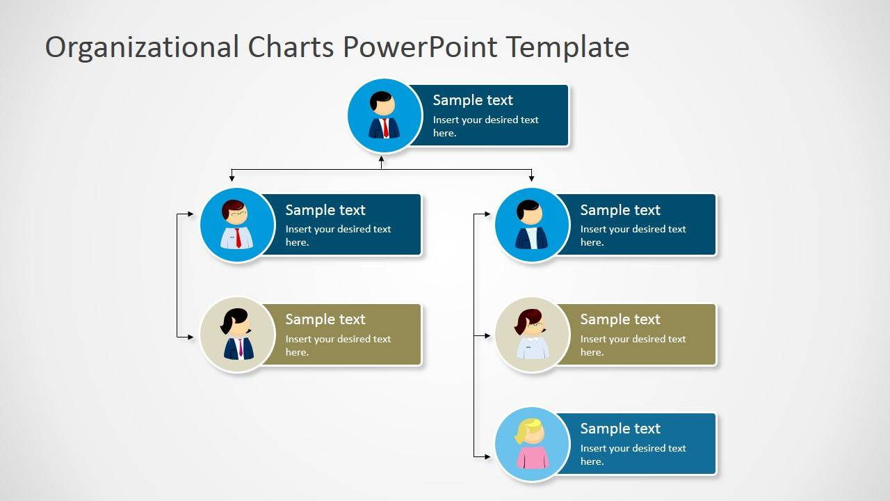 Non Hierarchical Organizational Chart Template