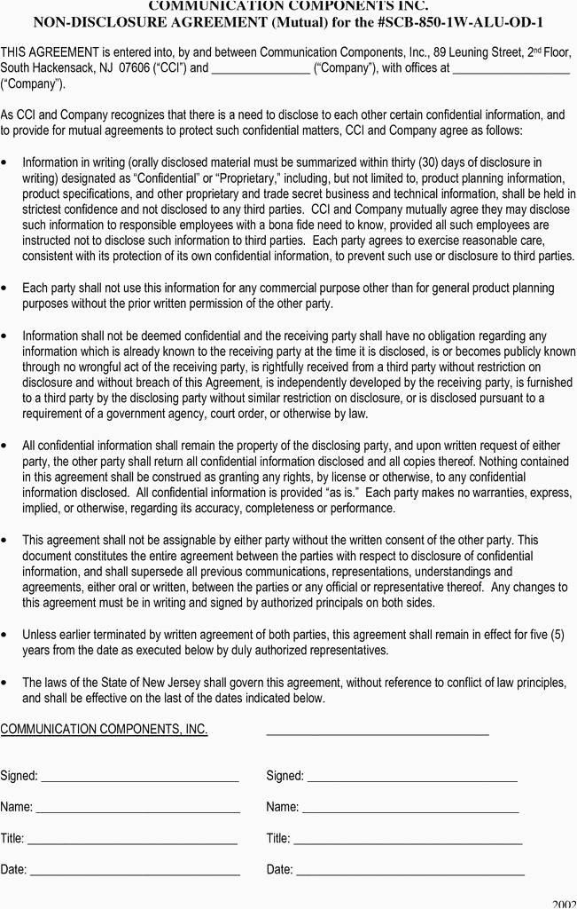 Non Solicitation Agreement Ontario Template