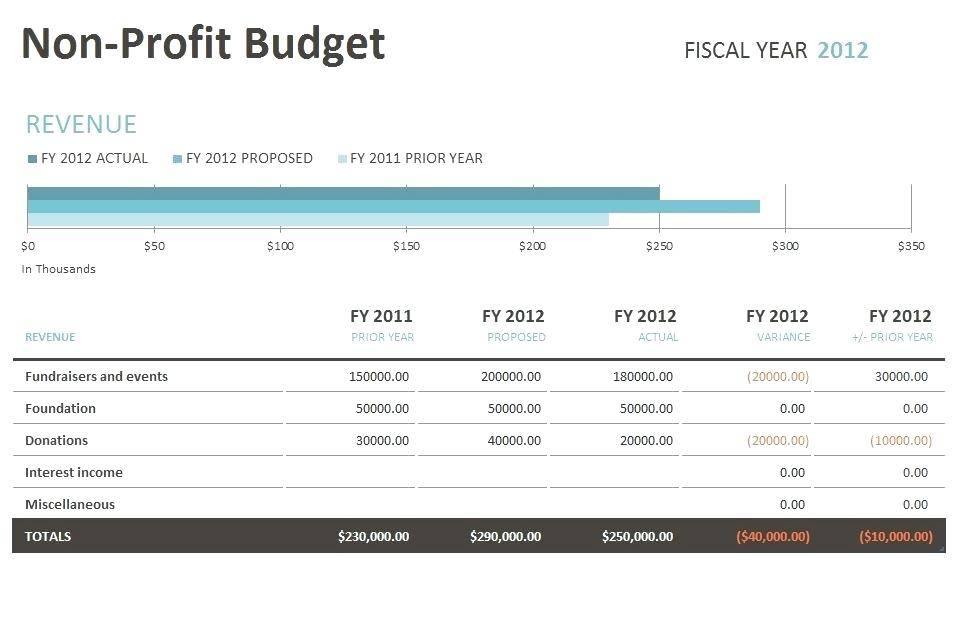Nonprofit Budget Template Google Sheets