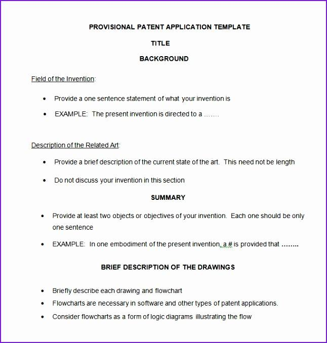 Nonprovisional Patent Application Template