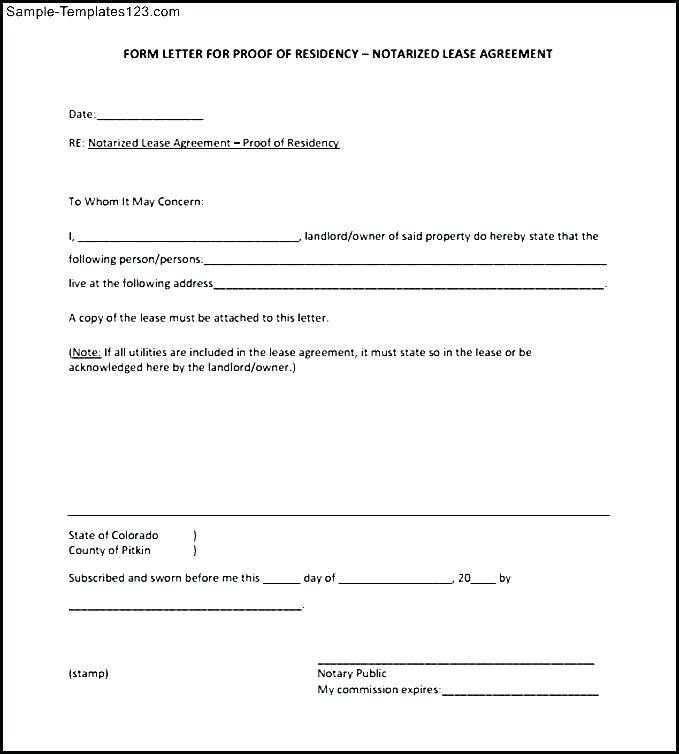Notary Form Template North Carolina