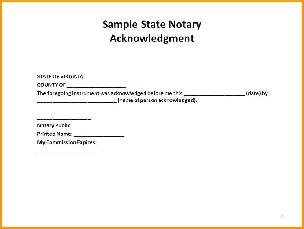 Notary Form Template Texas