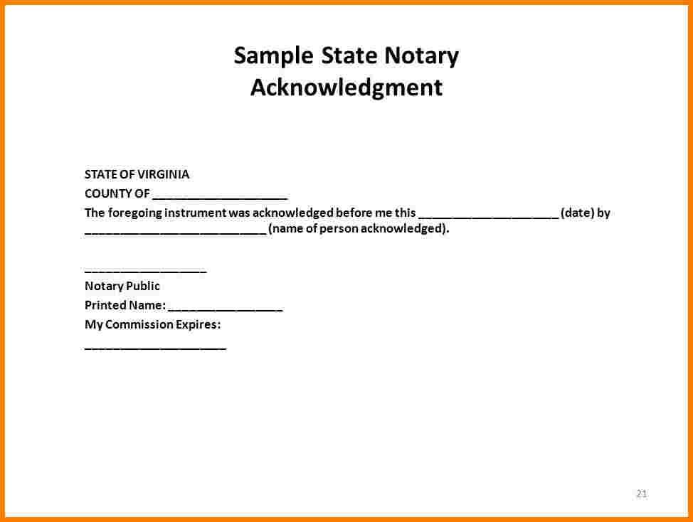 Notary Public Seal Template