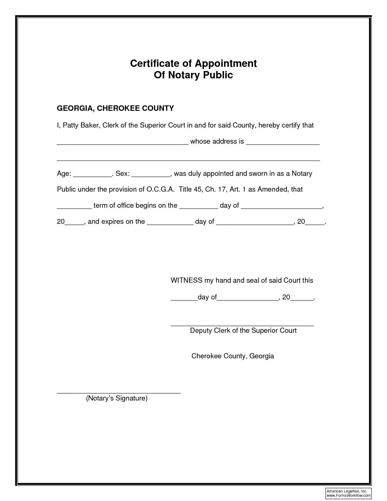 Notary Public Signature Template Texas
