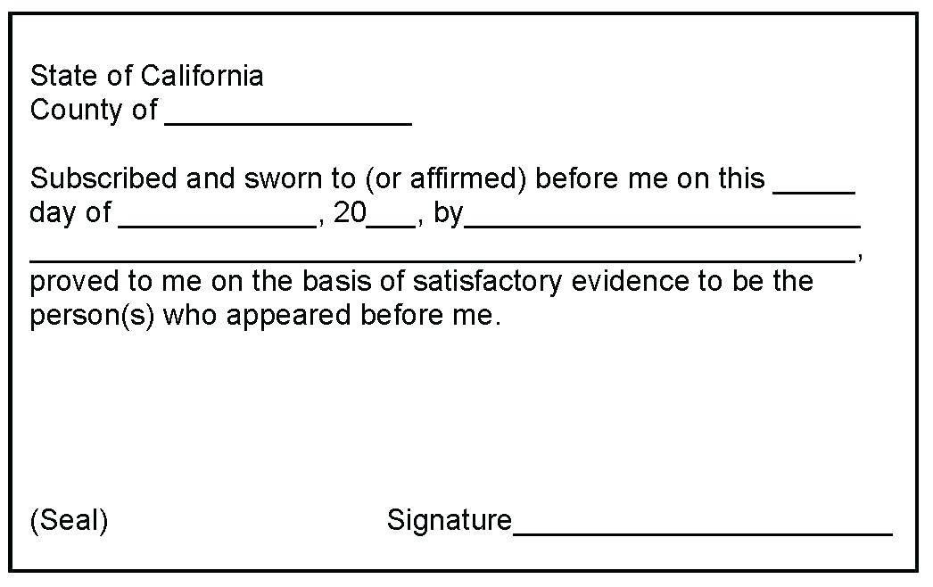 Notary Public Template Colorado