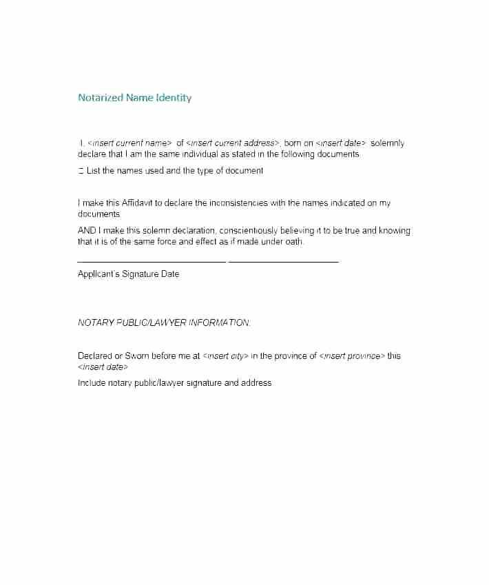 Notary Public Template Nc