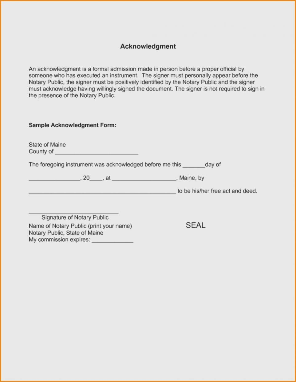 Notary Public Template Word