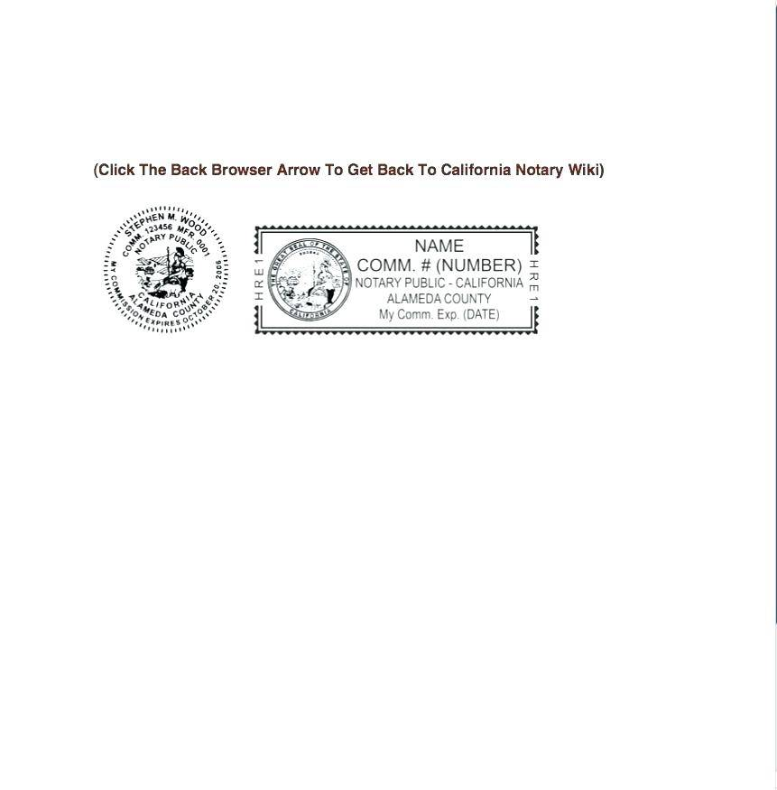 Notary Seal Template California
