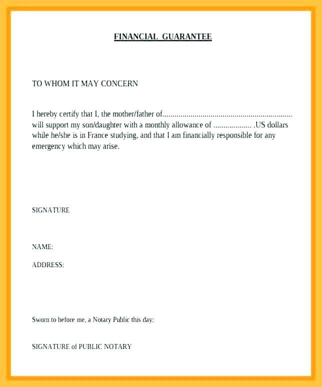 Notary Verbiage Template