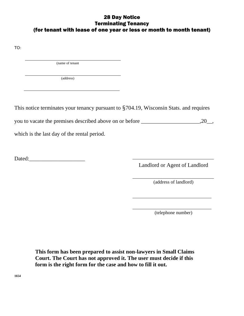 Notice Required For Termination Of Lease