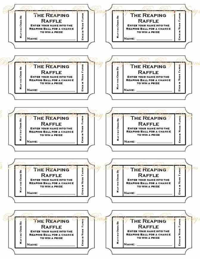 Numbered Tickets Template