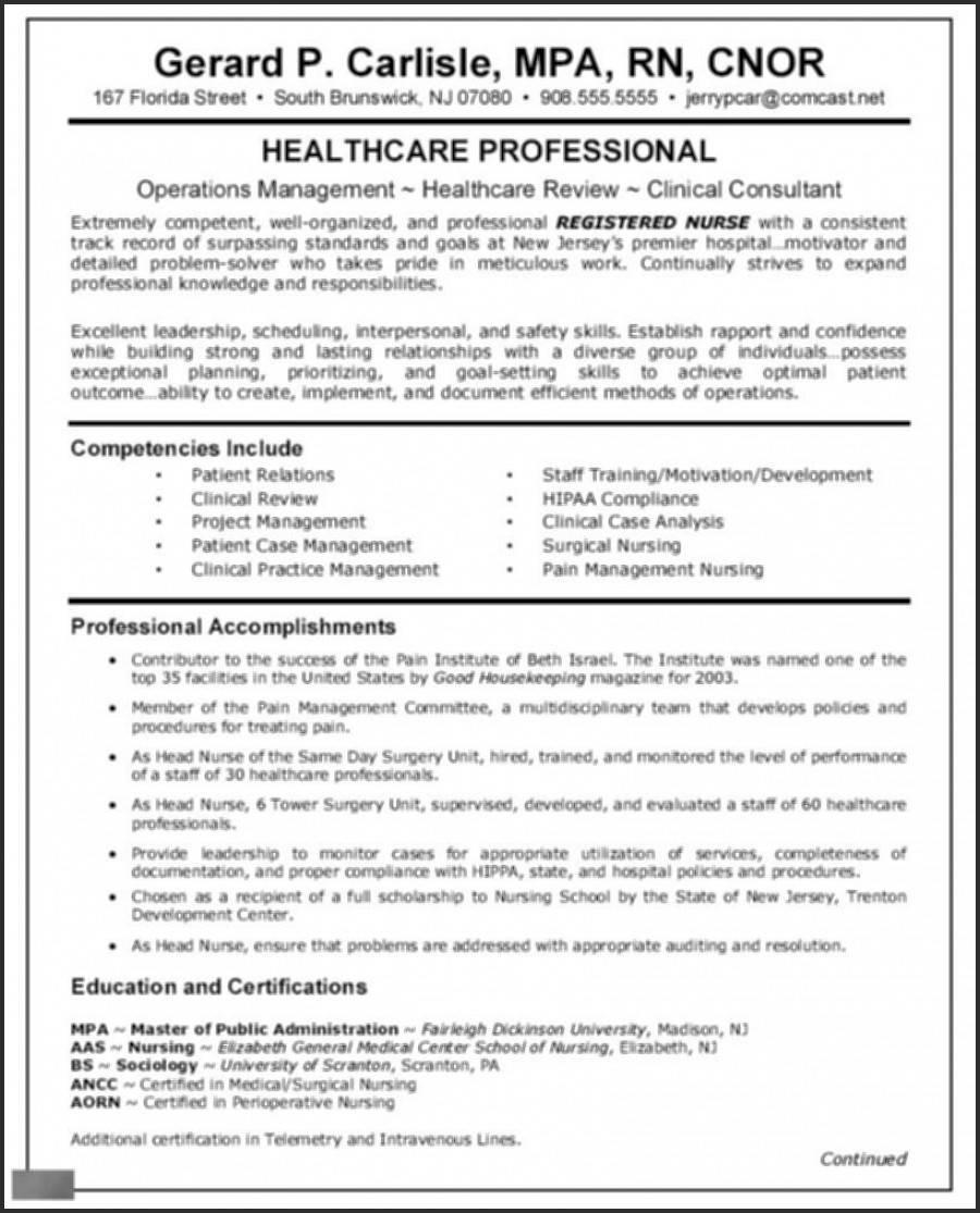 Nurse Practitioner Resume Template