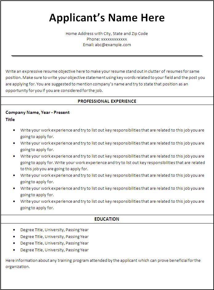 Nursing Cv Templates