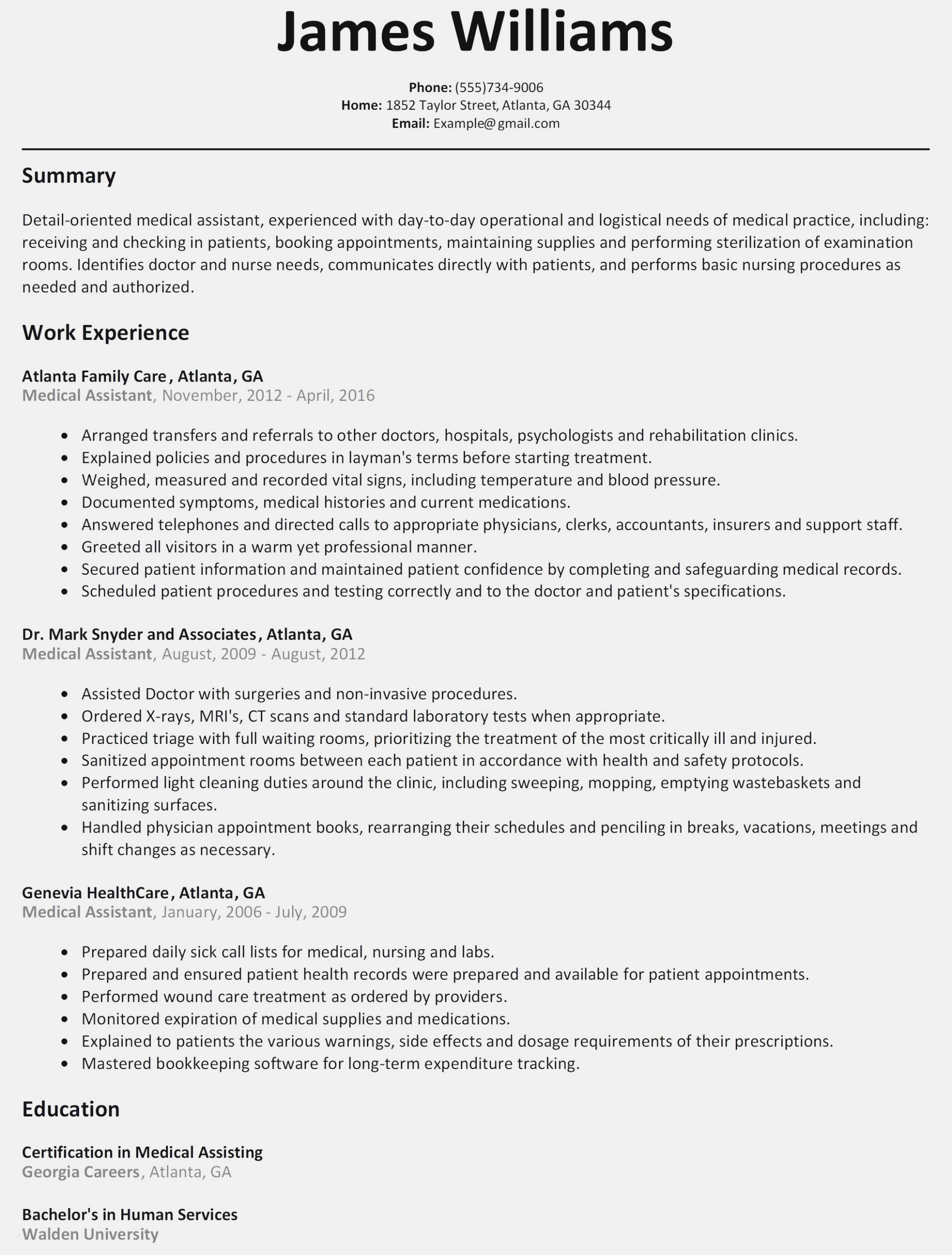 Nursing Resume Template Word Free