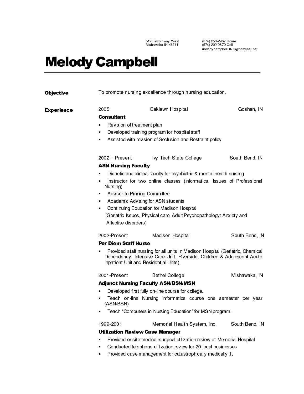 Nursing Resume Templates Australia
