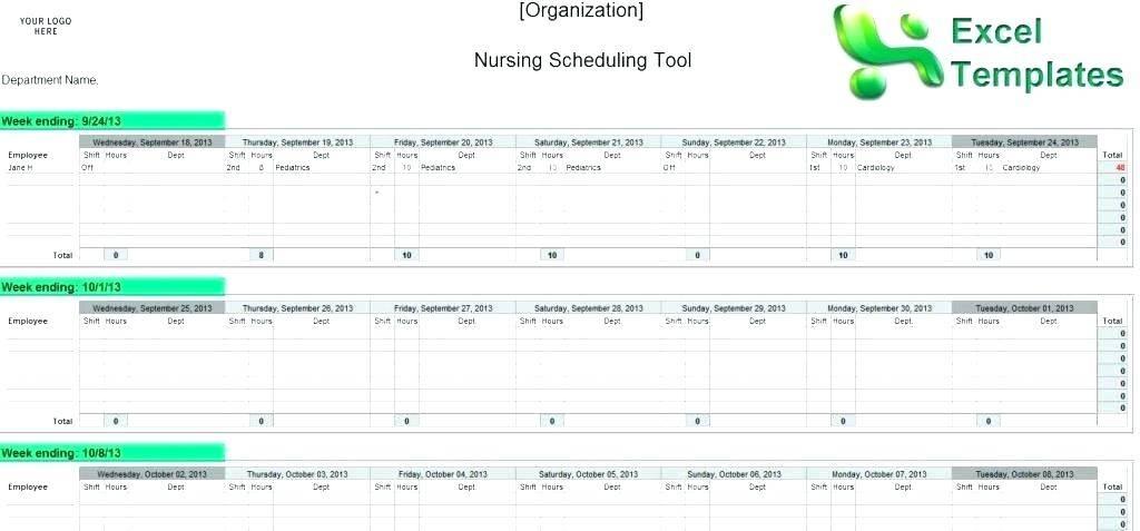 Nursing Staffing Schedule Template