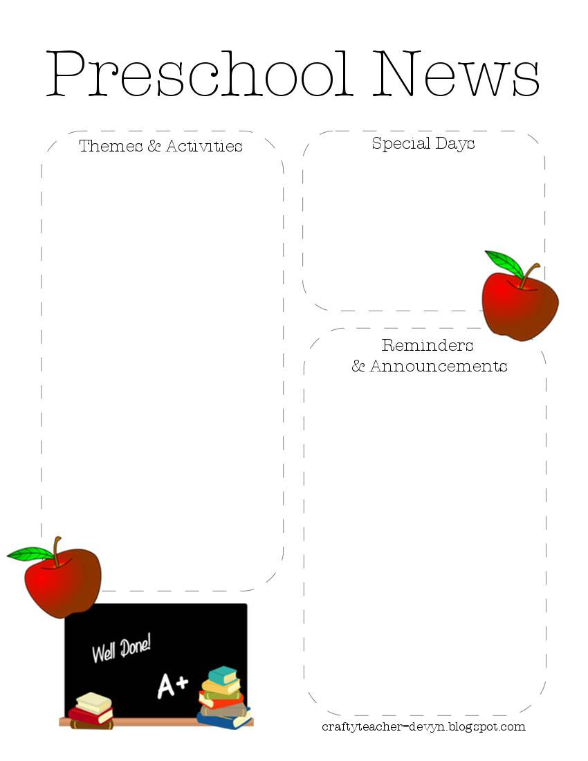 Nutrition Newsletter Templates Free
