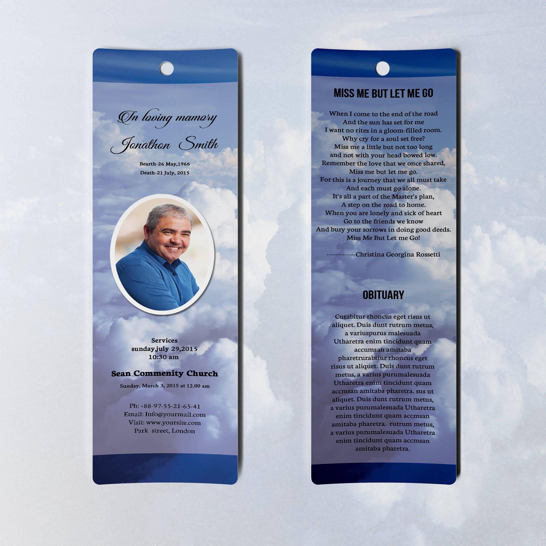 Obituary Bookmark Template