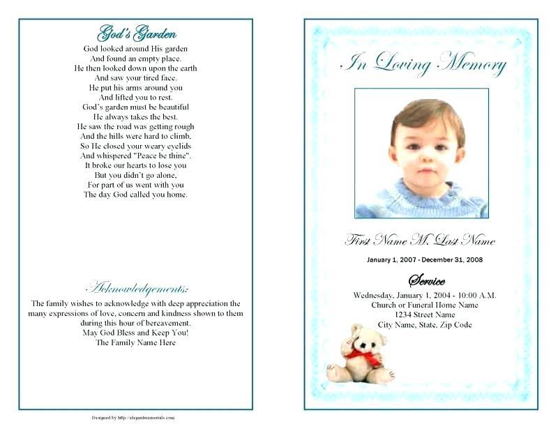 Obituary Template For Baby