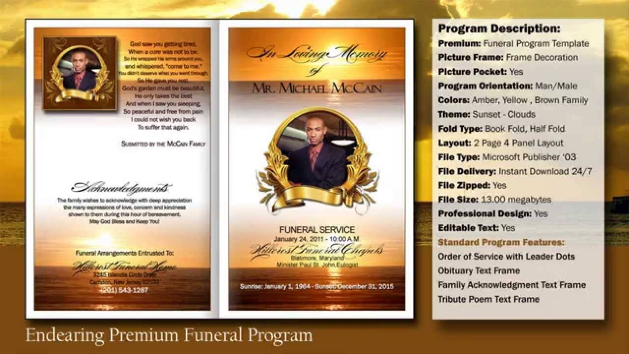 Obituary Template For Microsoft Publisher Free