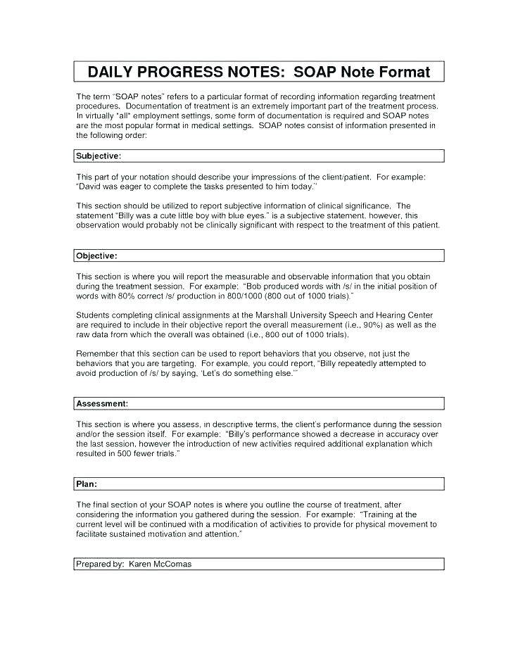 Occupational Therapy Daily Notes Examples