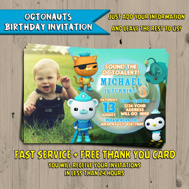 Octonauts Birthday Invitations Template Free
