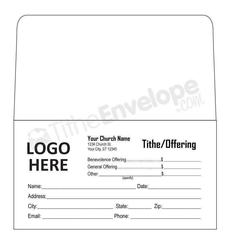 Offering Envelope Design Template