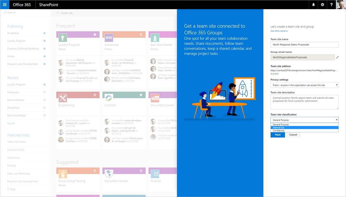 Office 365 Group Sharepoint Site Template