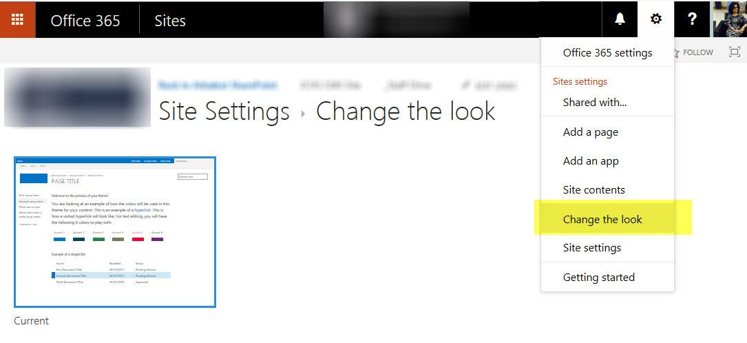 Office 365 Sharepoint Change Site Template