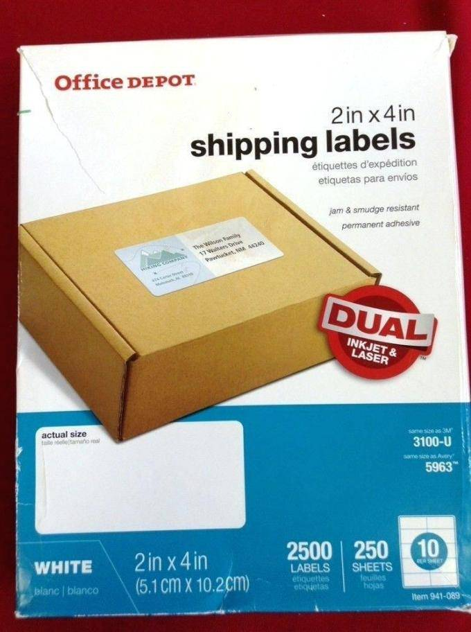Office Depot Label Template 612 011
