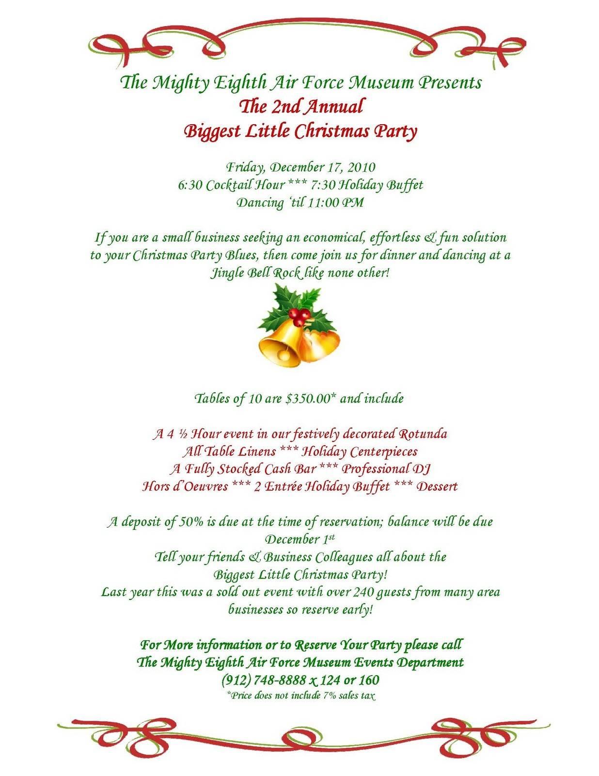 Office Dinner Invitation Templates