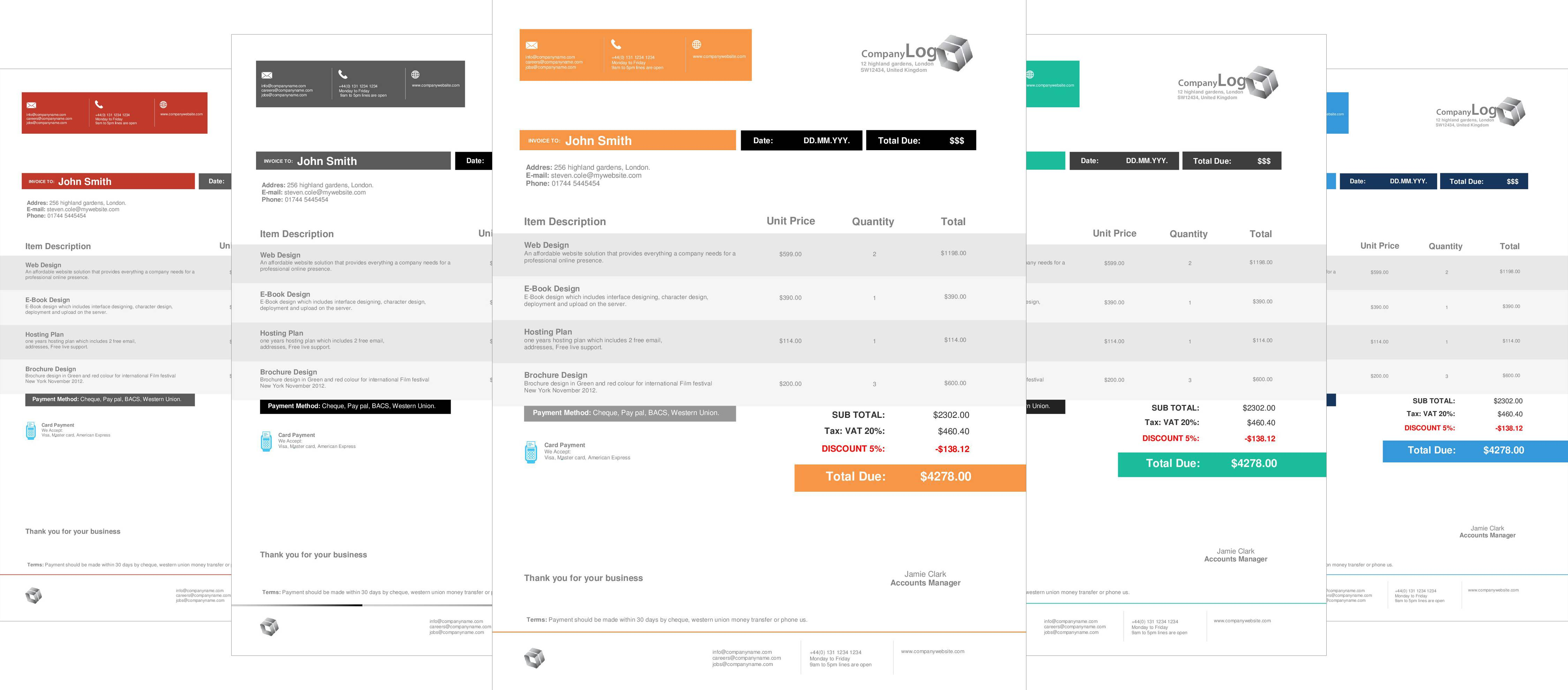 Office Excel Invoice Templates