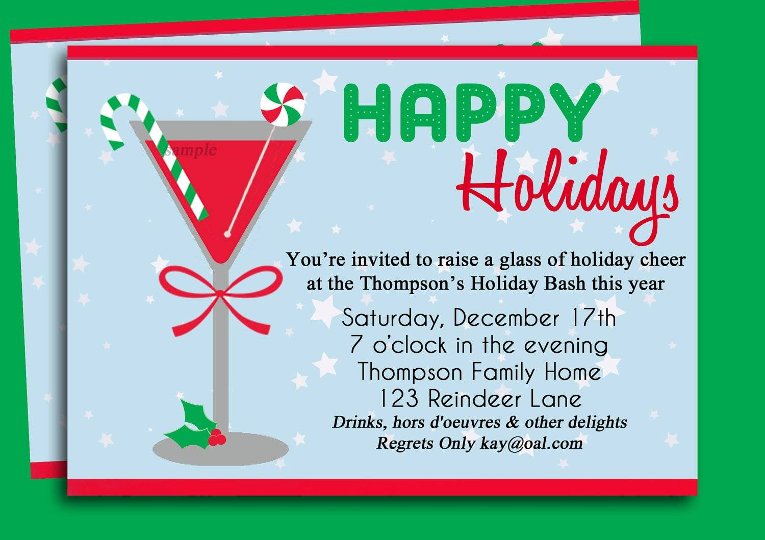 Office Party Christmas Invitation Templates