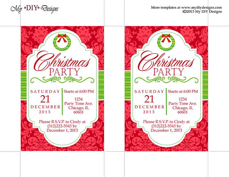 Office Party Invitation Templates Free
