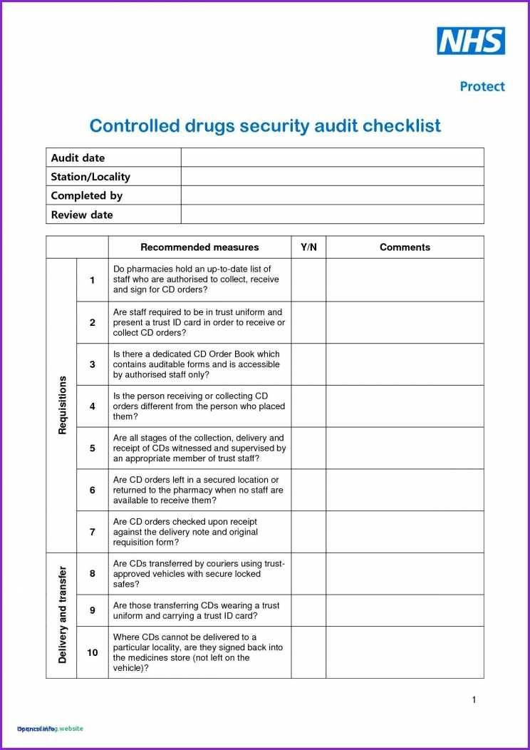 Office Safety Checklist Template Uk