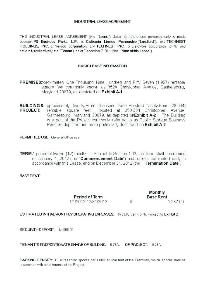 Office Space Rental Contract Template