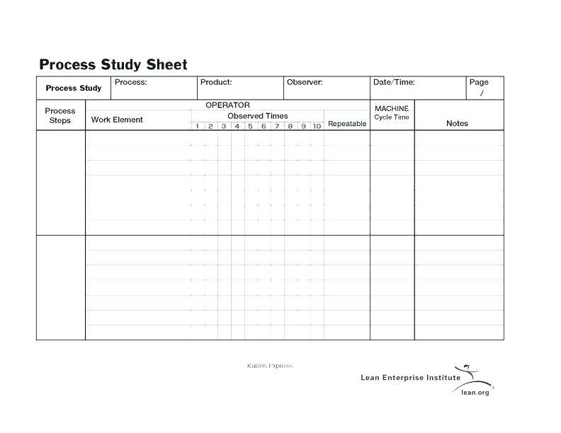 Office Time And Motion Study Template