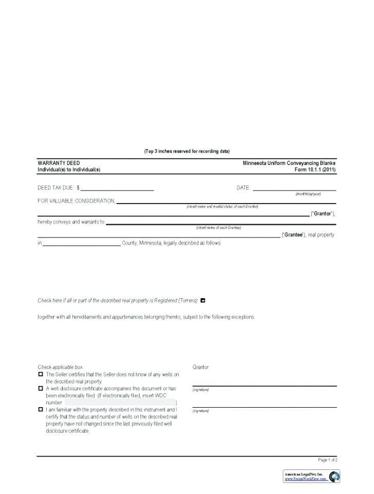Ohio Warranty Deed Template