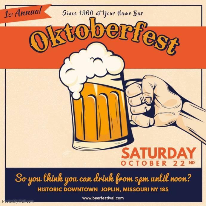 Oktoberfest Invitation Template