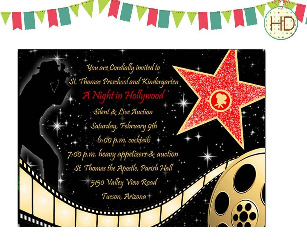 Old Hollywood Invitation Templates