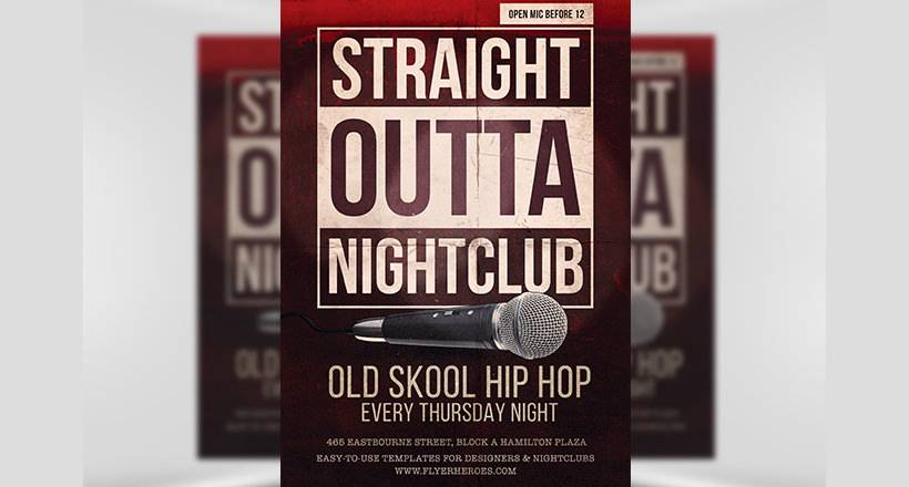 Old School Flyer Template Free Download