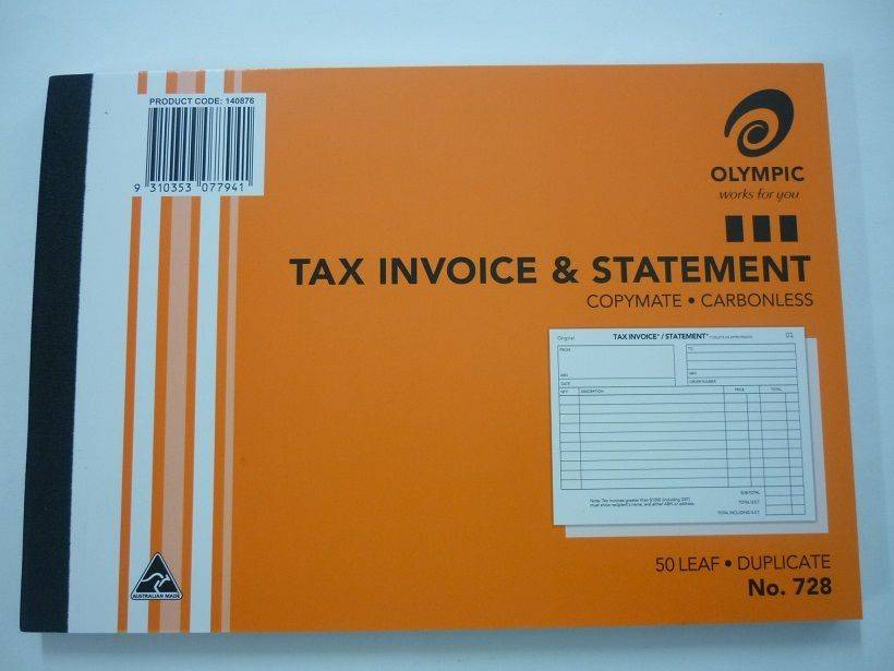 Olympic Tax Invoice & Statement Template