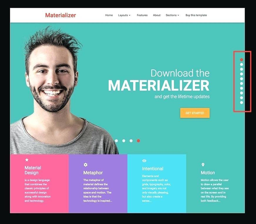 One Page Vertical Scrolling Website Template