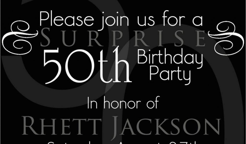 Online 50th Birthday Invitation Templates