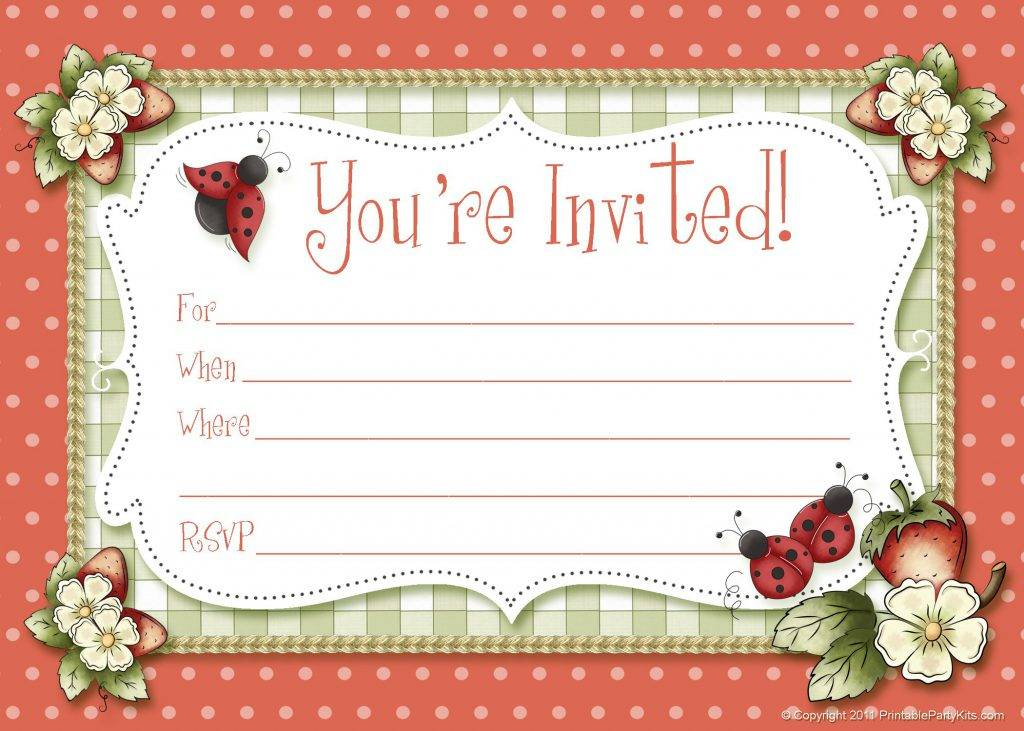 Online Birthday Party Invitation Templates