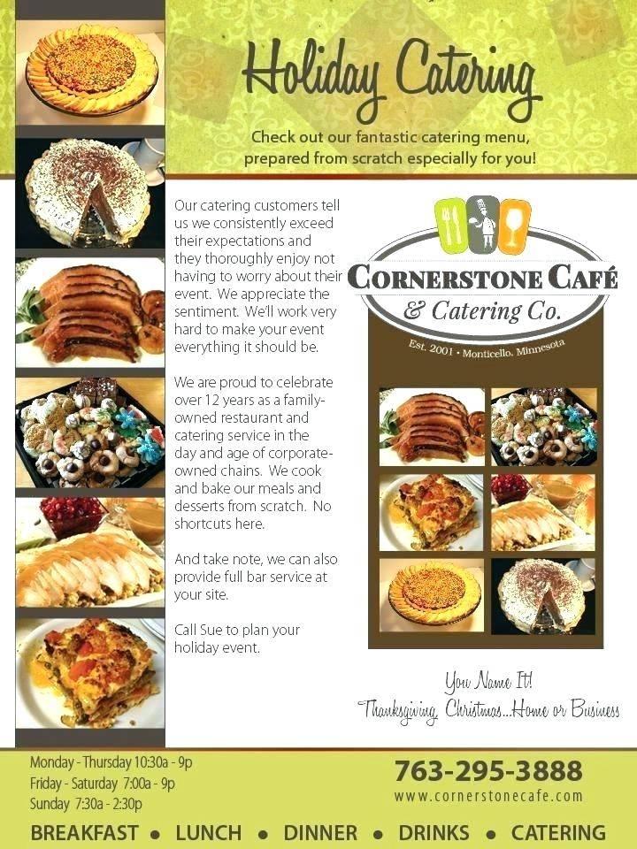 Online Catering Menu Templates