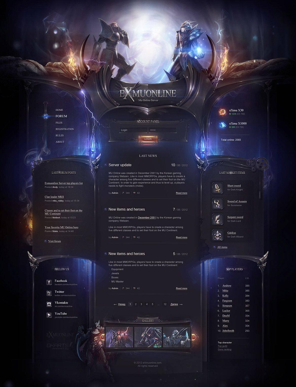 Online Gaming Websites Templates