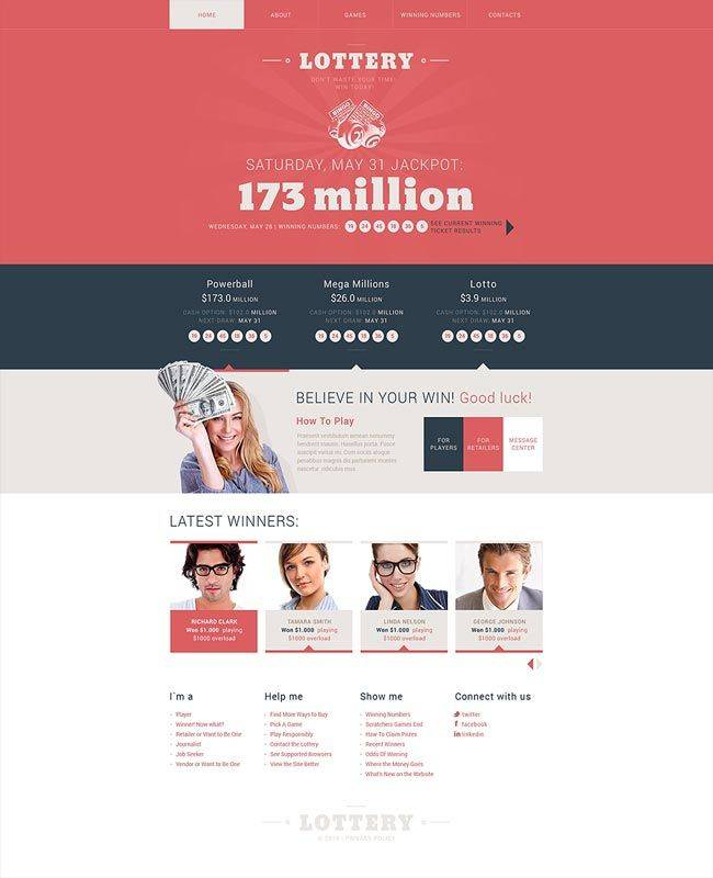 Online Lottery Website Template