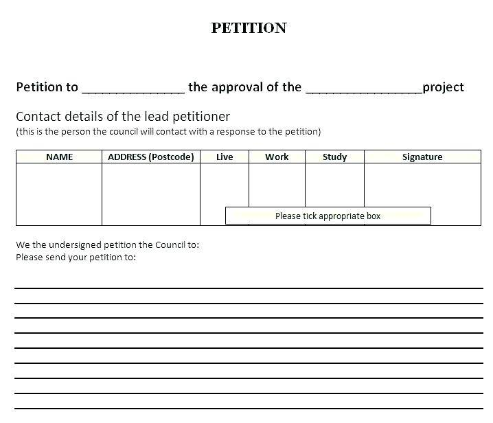 Online Petition Website Template