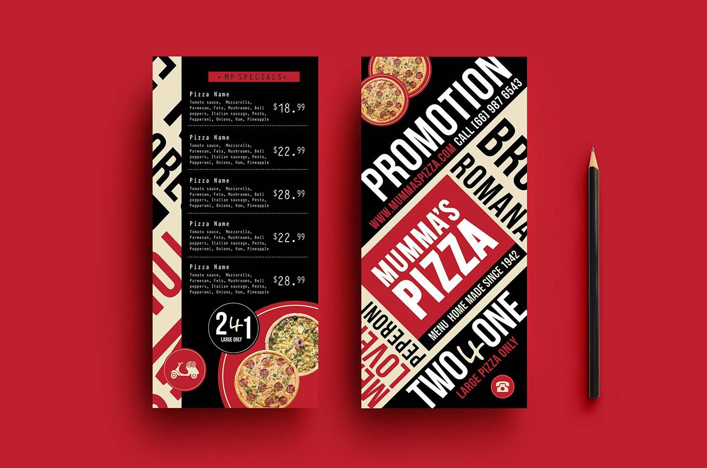 Online Pizza Menu Templates